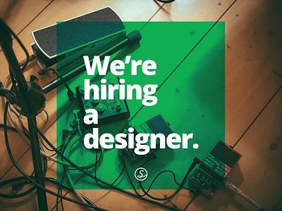 We're hiring a designer! music london design designer sofar hire hiring