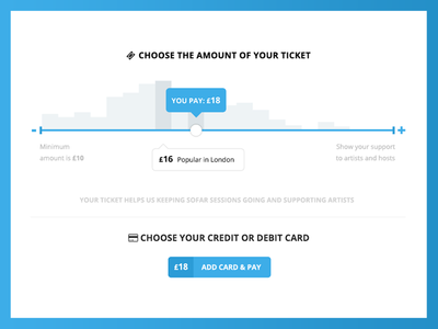"""Sofar """"Pay What You Want"""" Slider"""