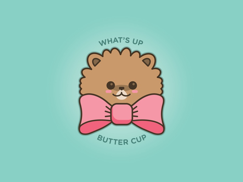 Butter cute justforfun illustration dog doodle pomeranian