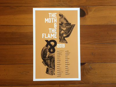 The Moth & The Flame 2019 Tour Poster