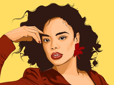 Tessa Thompson Art movie artist drawing beautiful vexal photoshop vector illustration digital illustration digital art celebrity actress