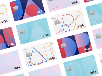 Cards quadpay installments debit credit design branding bank cash payment iphone app fintech cards card payments