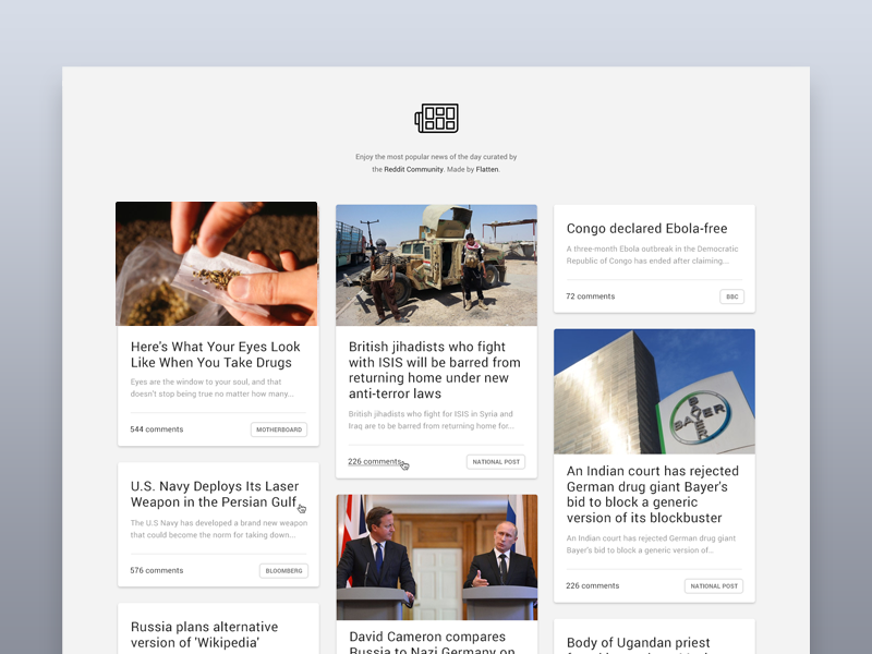 worldnews an unofficial r worldnews interface by santiago alonso