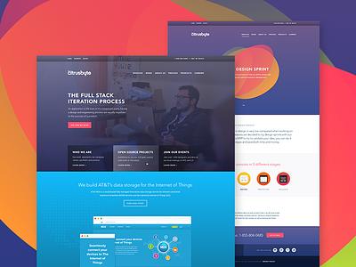 Citrusbyte — New Site Sneak Peek madebysan ux site page landing colorful agency software citrusbyte web marketing