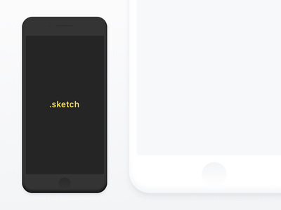 iPhone 7 Minimal Mockup free download freebie sketch black white 7 mockup iphone