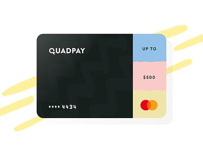 QuadPay Card design fintech ecommerce checkout master visa credit card finances fin-tech credit card