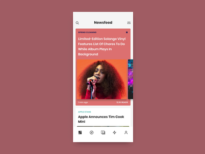 Concept Newsfeed Animation simple animation publications news design newsapp interface simple publication design publication news color minimal clean
