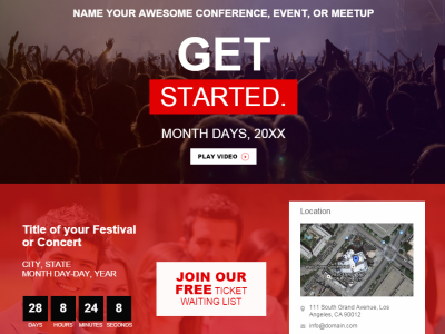 Conference, EVENT, Meetup, SUMMIT | Website Template by