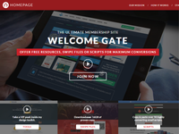 Welcome Gate, MEMBERSHIP SITE, Lead Magnets, Home/Login Page