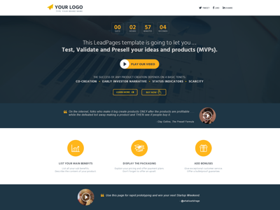 Test, VALIDATE, PreSell, LAUNCH Ideas | Mobile App mvp lead magnet clickfunnels landing pages ui kajabi website minisite sales iphone wordpress leadpages