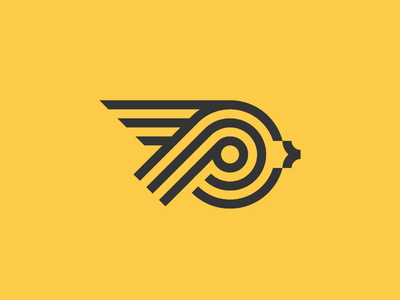 Pigeon logo concept logo design fly yellow identity branding brand icon bird pigeon logo