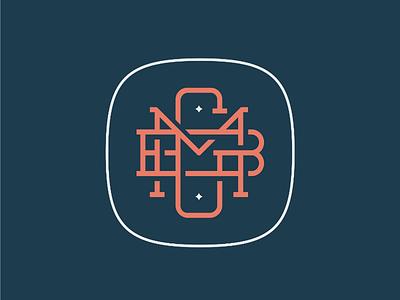 MGB Monogram concept identity branding initials logo money finance accountant mgb monogram