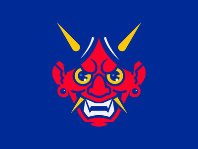 Oni Mask smile teeth manga anime mask scary asian asia samurai japan oni