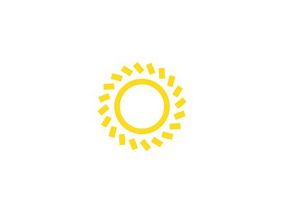 Sun geometric circle round space star summer warm sky yellow sun