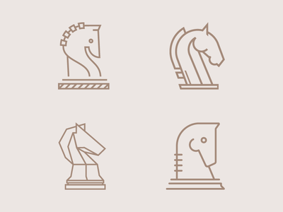 Knight Marks vector drawing line test brown game piece horse chess knight