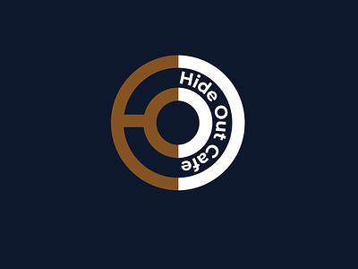 hideout cafe cafe branding flat minimal icon branding design visual identity cafe logo