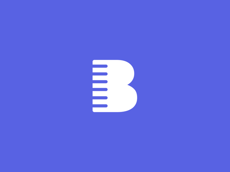 The Buzz buzzer haircut buzz branding logo b