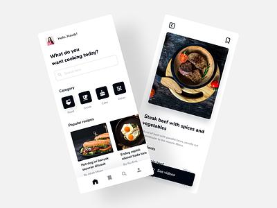 Food Recipe Mobile App cooking recipes mobile app food recipes