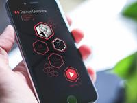 Hexagons Interface Concept