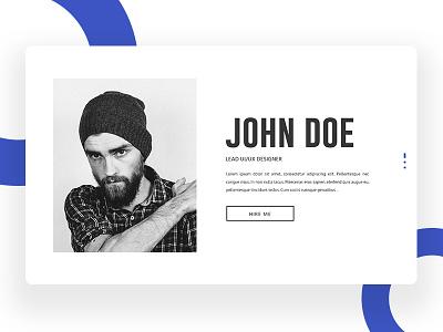 Personal CV Concept #1 ux ui template psd portfolio personal cv design creative agency