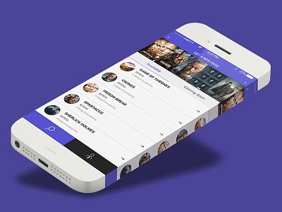 IOS App Design Concept for TV Series Passes pass app trendy design apple tv series app design ios