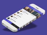 IOS App Design Concept for TV Series Passes