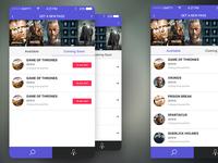 IOS App Design Concept for TV Series Passes #2