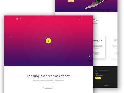 Landing - Agency Website Concept portfolio professional design creative user interface ui gradient psd landing agency