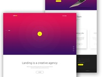 Landing - Agency Website Concept