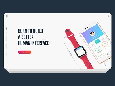 Agency Website Concept portfolio professional design creative user interface ui gradient psd landing agency