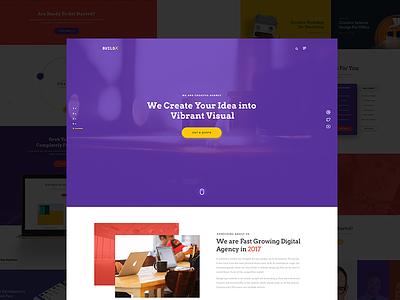 Creative Agency Landing Page portfolio professional design creative user interface ui typography psd landing agency