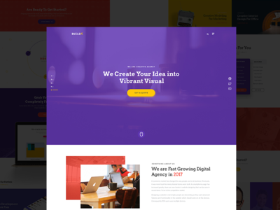 Creative Agency Landing Page portfolio professional design creative user interface ui typography psd landing agency