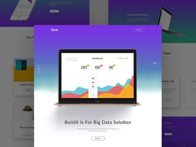 Product Landing Page professional design interface design ux ui web design app gradient software sass psd landing