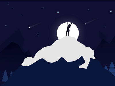 Illustration - Feel Your Soul summit alpine mount night himalaya mountain illustration