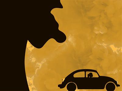 Landscape Illustration night car smoke illustrator character illustration landscape