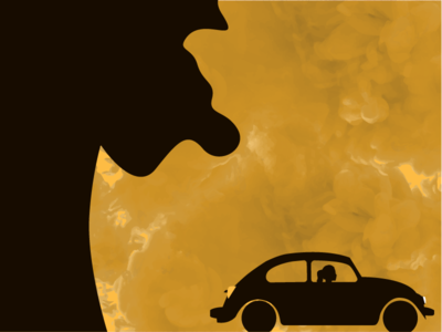 Landscape Illustration night car smoke illustrator character illustration landscape