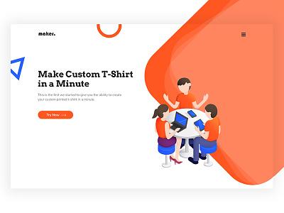 Design for T-Shirt Making AI illustration web design ux ui bold vibrant isometric artificial intelligence