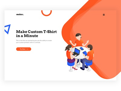 Design for T-Shirt Making AI illustration web design ux ui bold vibrant isometric artificial intelligence