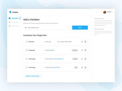 Design a Segmentation Experience user segmentation tool ab testing dashboard ux