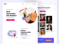 Digital Product Landing professional design ui creative agency modern product landing typography team clean illustration minimal website interface design