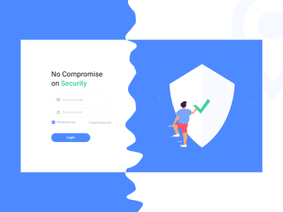 Login Page for a Car Tracking System dashboard interface illustraion login ux product design minimal