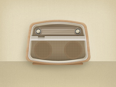 Retro Radio radio icon vintage wood knob ios iphone retro illustration ipad