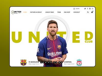 United club web | UI design designs clear clean portfolio brizmi user experience userinterface unitedclub football dailyui uiux typography ux ui web creative uidesign minimal design adobexd