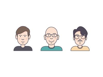 Team  team icon head shots vectors illustration