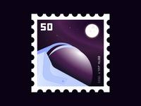 Moon Landing Anniversary Stamp