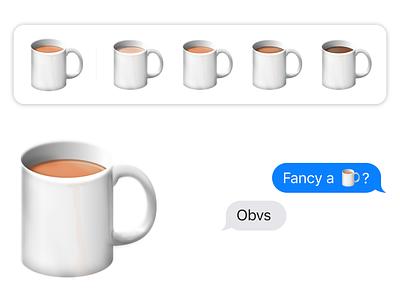 Cuppa Emoji icon fun vector ios apple design apple emojis emoji