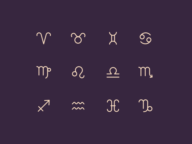 Zodiac Signs zodiac star signs icons astrology
