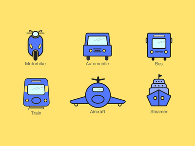 The development of transportation/交通工具的发展 clean graphic design art flat design animation icon ux ui logo