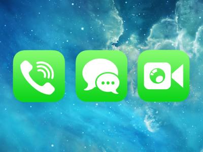 Phone, Messages, Facetime