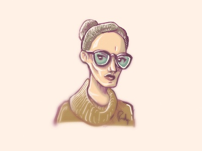 Character 1 hipster painting design character